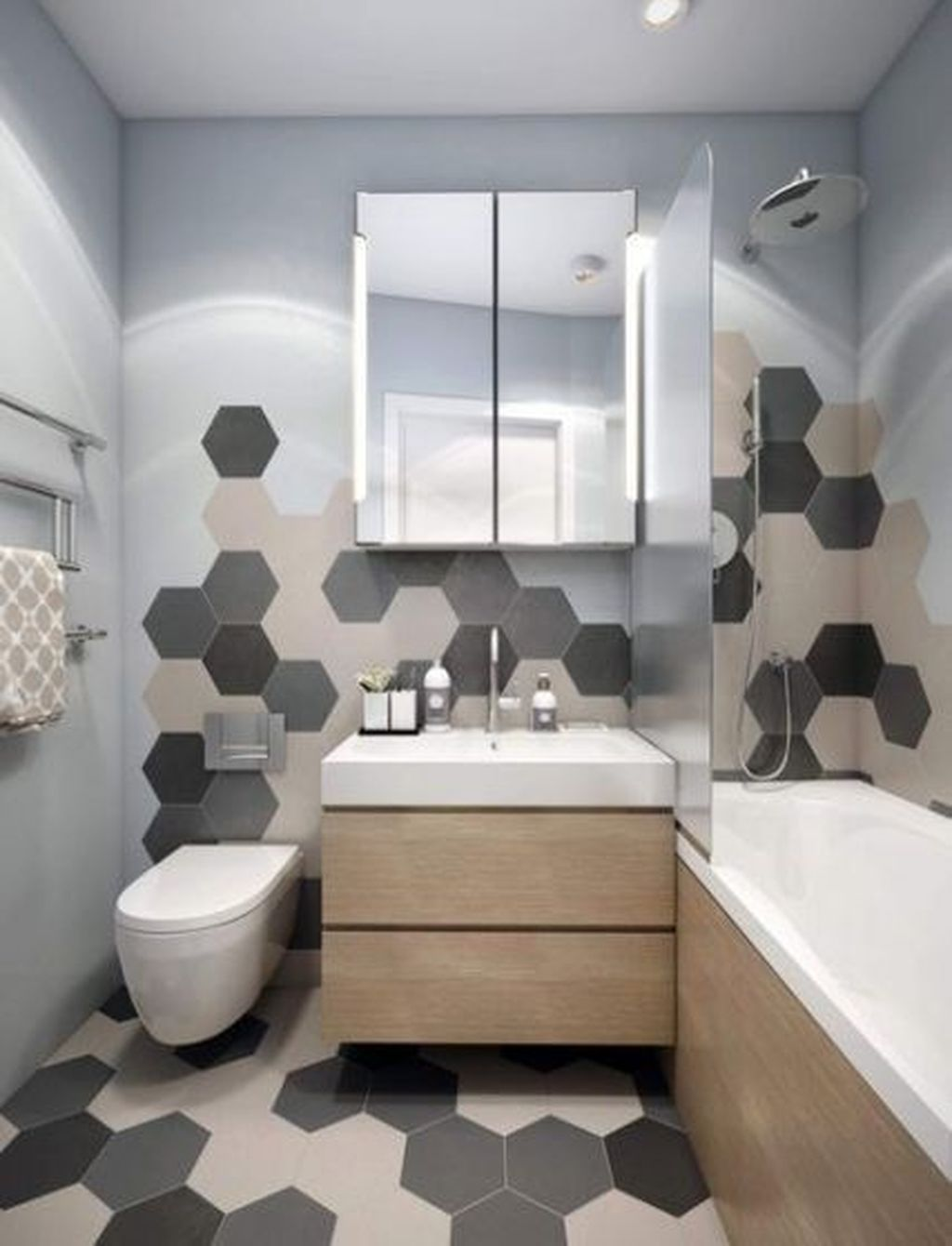 Inspiring Bathroom Tile Ideas 07