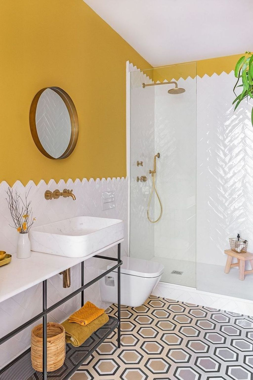 Inspiring Bathroom Tile Ideas 24
