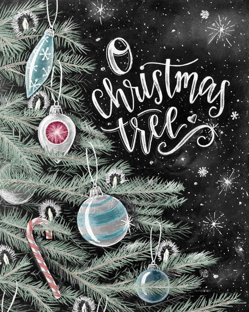 Inspiring Christmas Chalkboard Signs Design Ideas 09