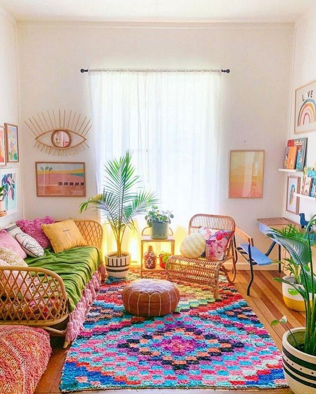 Lovely Bohemian Living Room Decor Ideas 02
