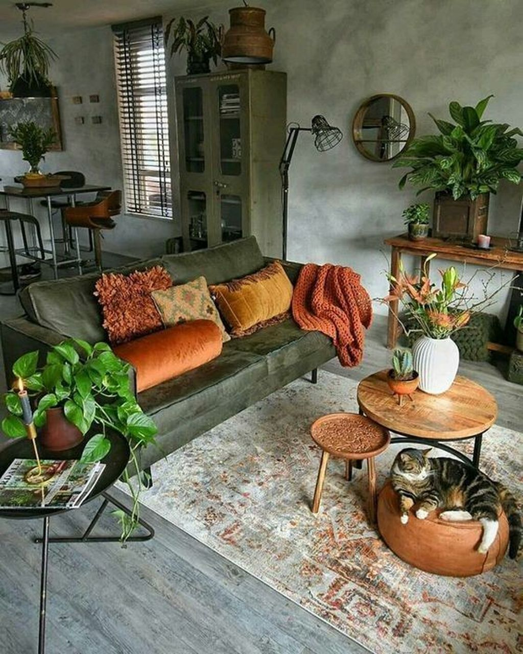 Lovely Bohemian Living Room Decor Ideas 11