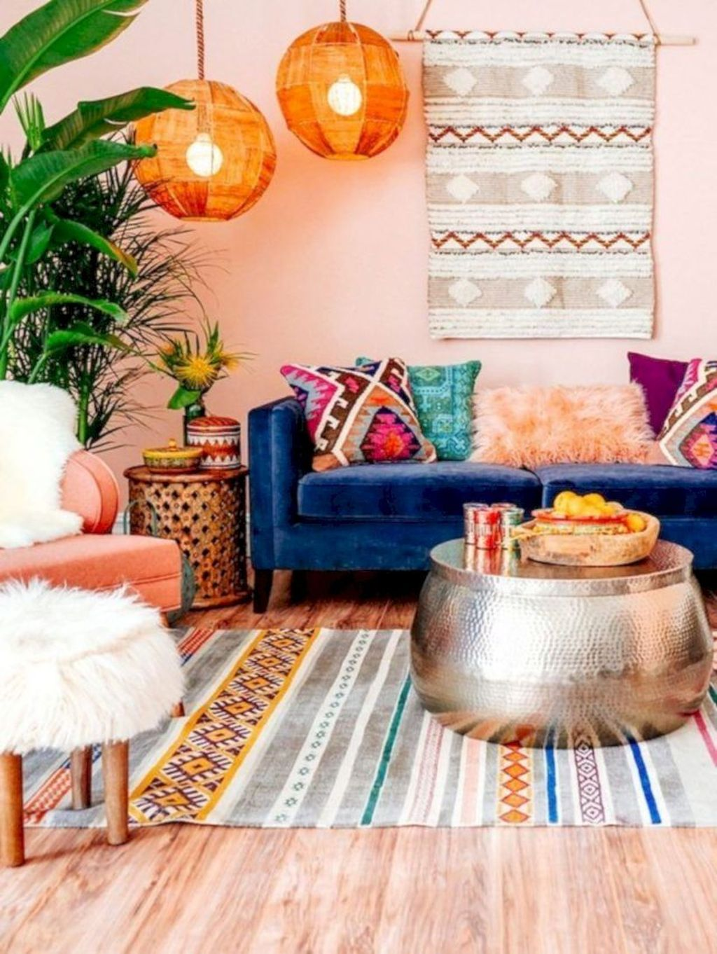 Lovely Bohemian Living Room Decor Ideas 25