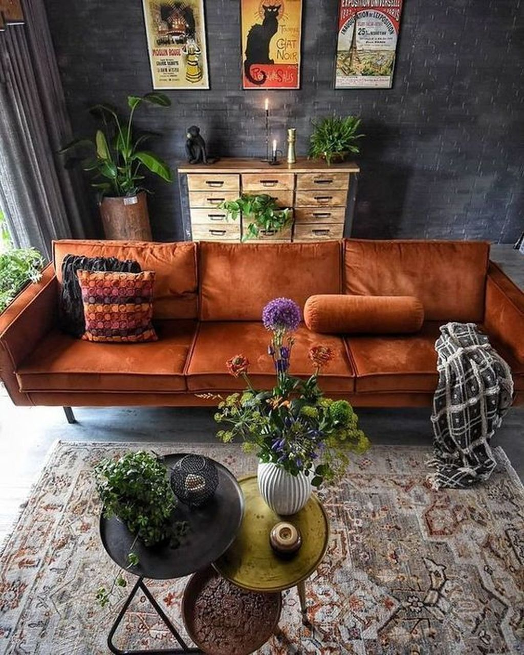 Lovely Bohemian Living Room Decor Ideas 29