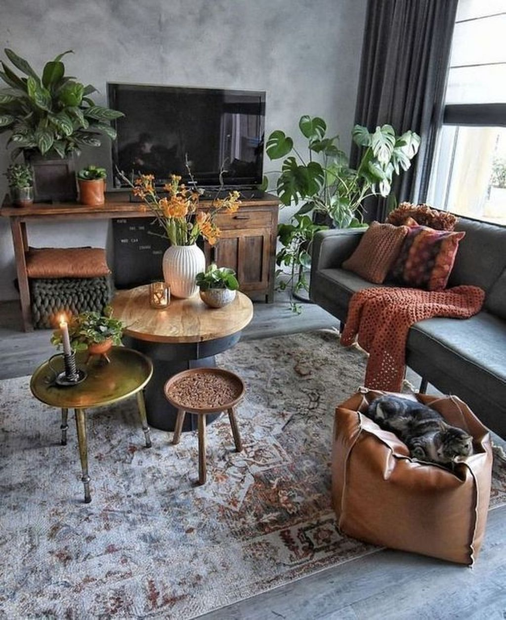 Lovely Bohemian Living Room Decor Ideas 35