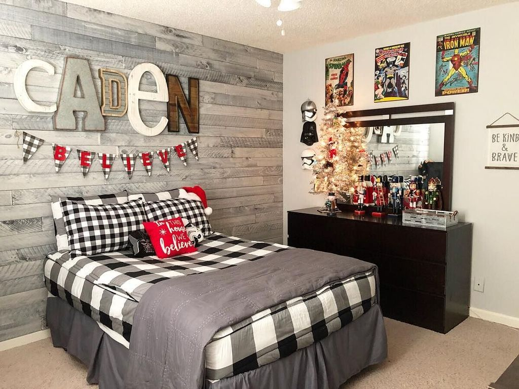 Lovely Christmas Kids Bedroom Decorations 33