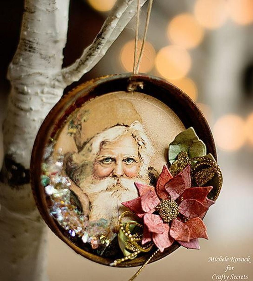 Nice Christmas Rustic Ornaments For Home Decoration 31