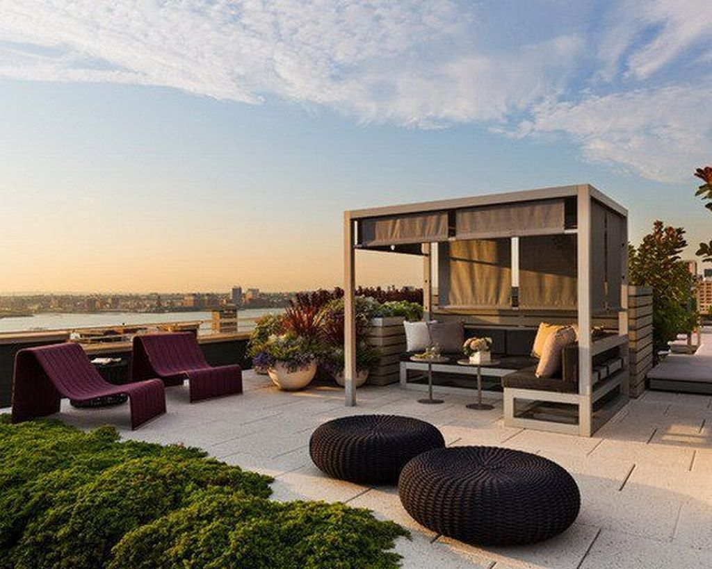 Nice Rooftop Terrace Design Ideas 30