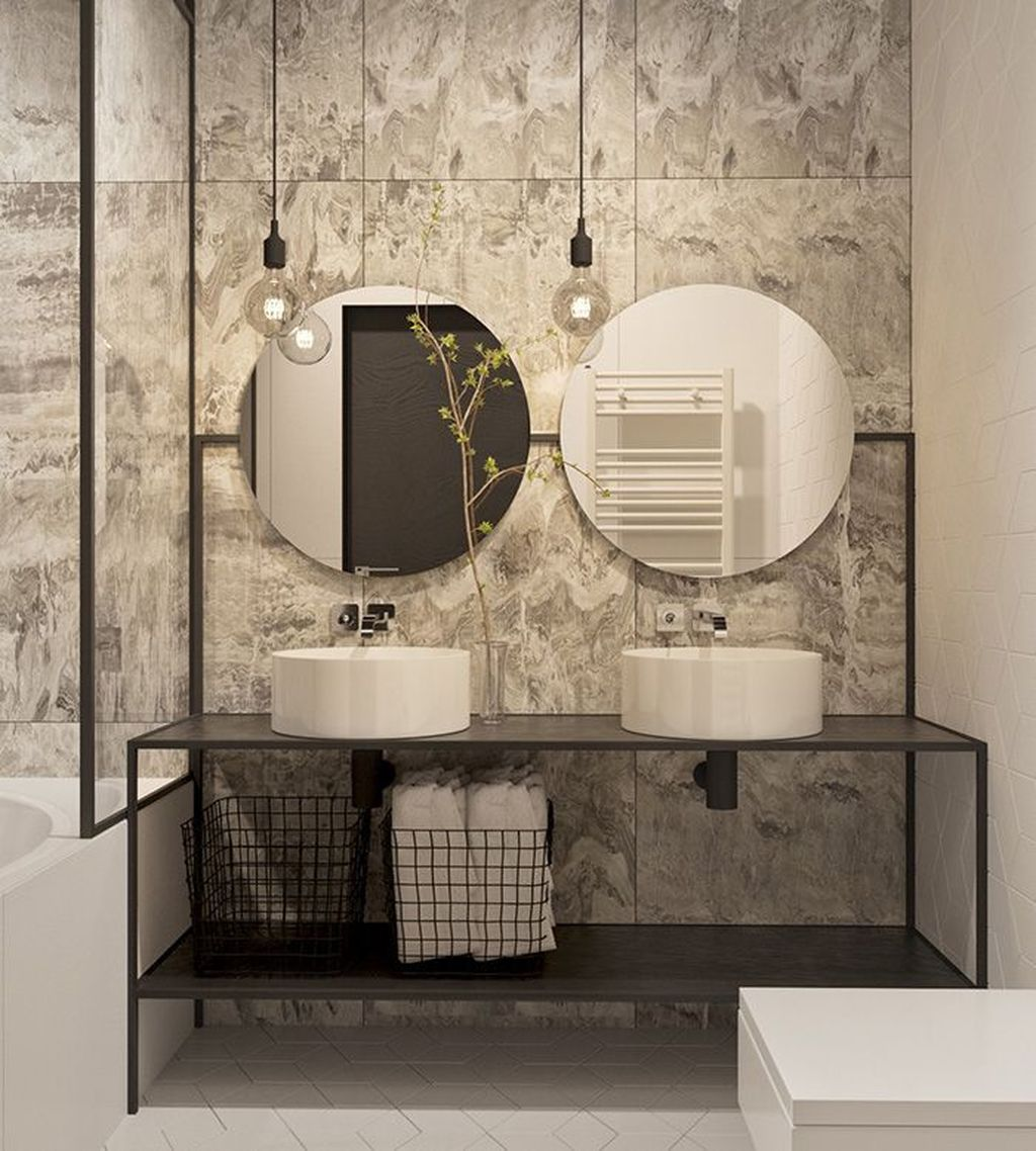 Stunning Industrial Bathroom Design Ideas 08