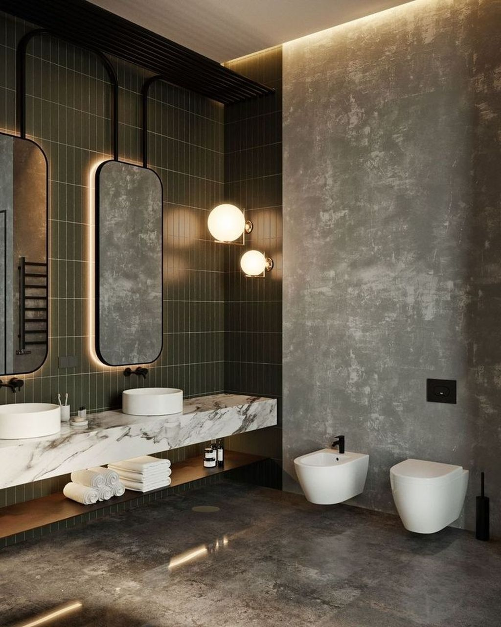 Stunning Industrial Bathroom Design Ideas 12