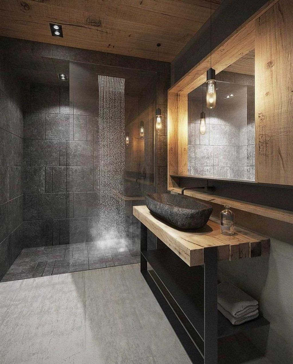 Stunning Industrial Bathroom Design Ideas 17