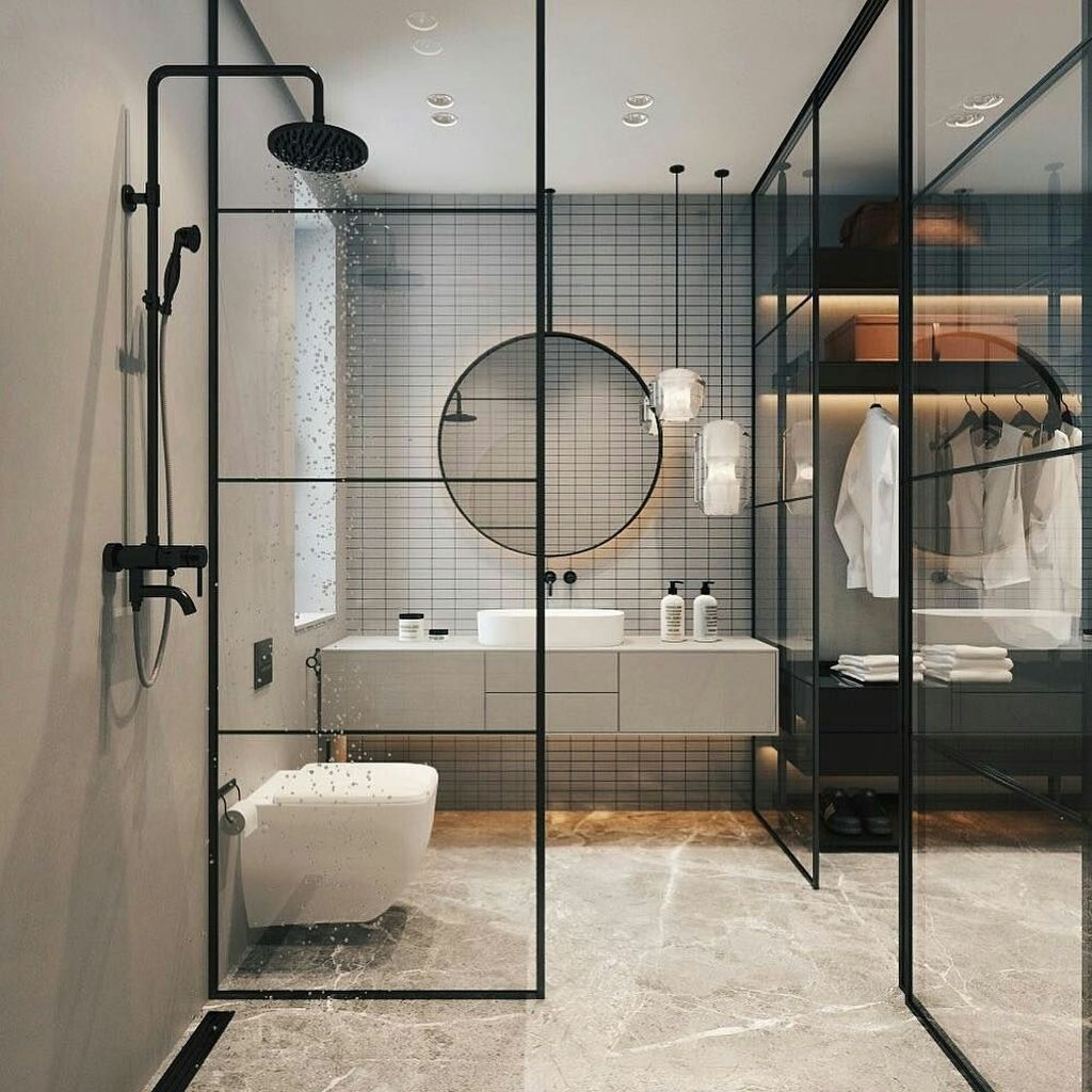 Stunning Industrial Bathroom Design Ideas 23