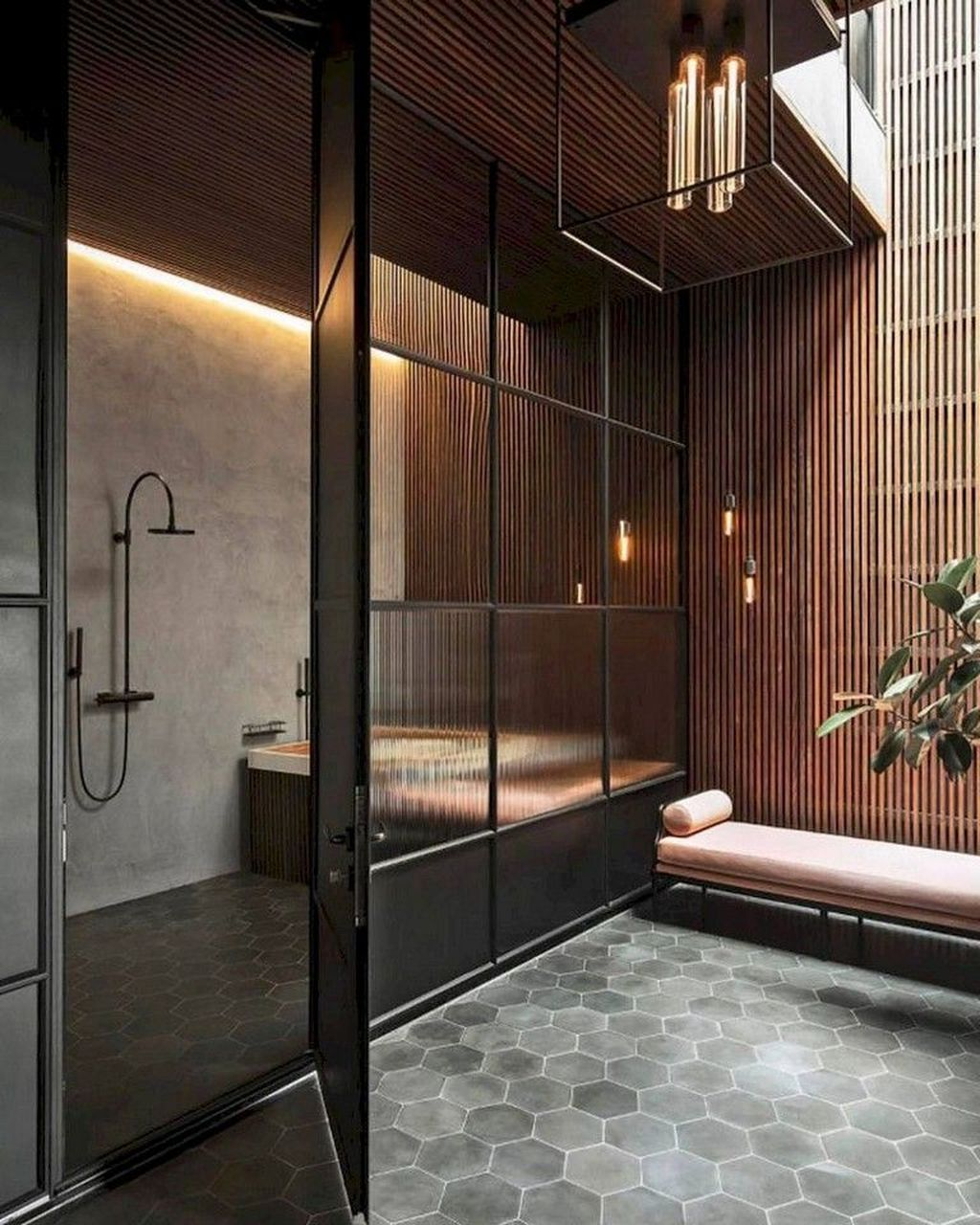 Stunning Industrial Bathroom Design Ideas 32