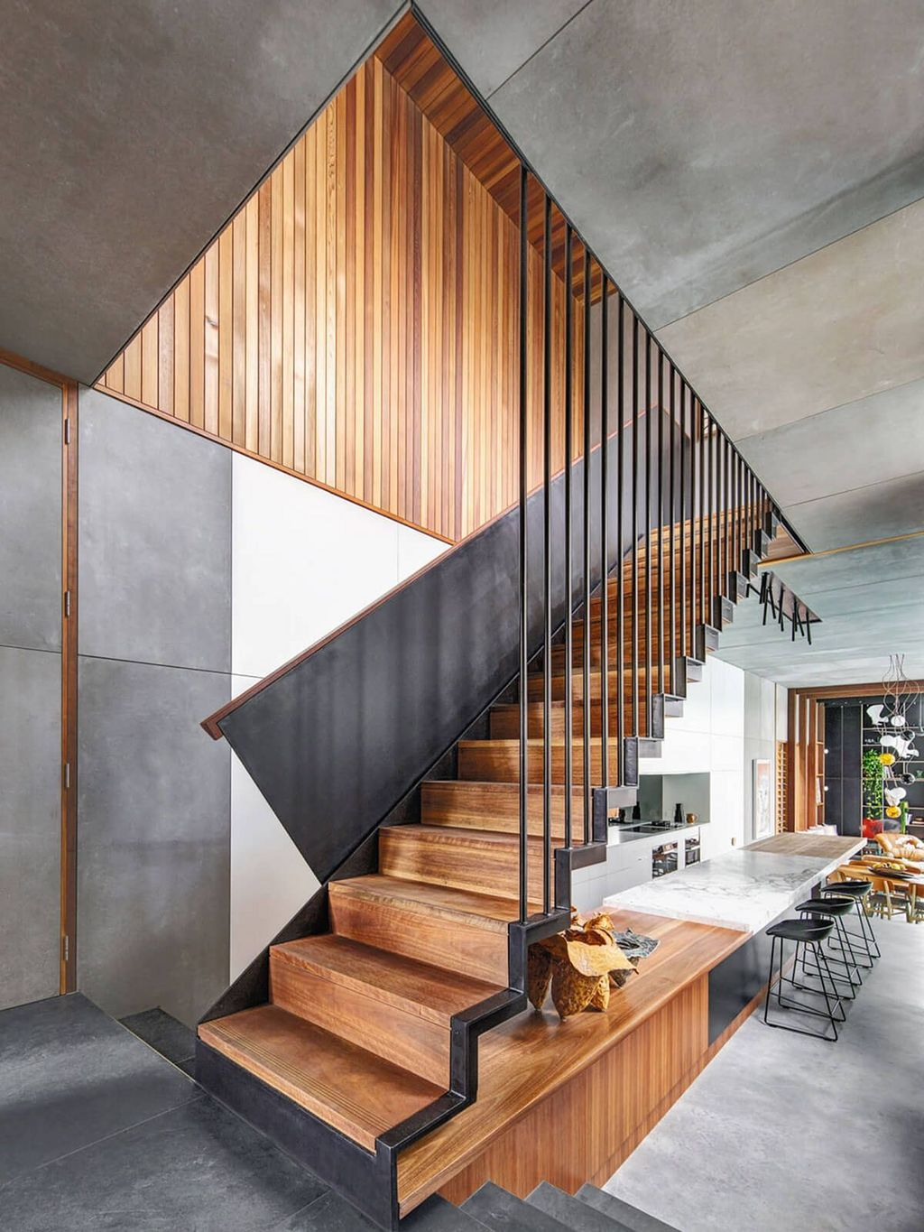 Stunning Wooden Stairs Design Ideas 07