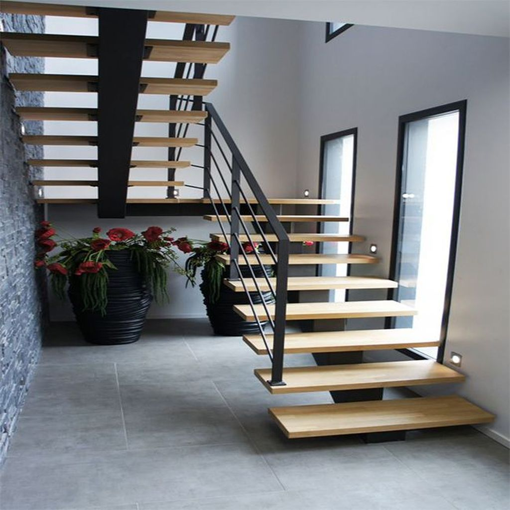 Stunning Wooden Stairs Design Ideas 29