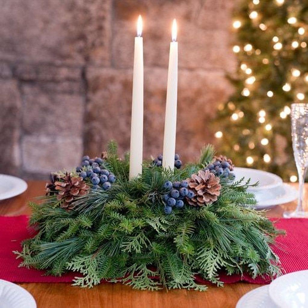 Nice Winter Table Centerpieces Decoration Ideas 25