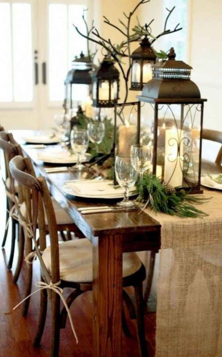 Nice Winter Table Centerpieces Decoration Ideas 28