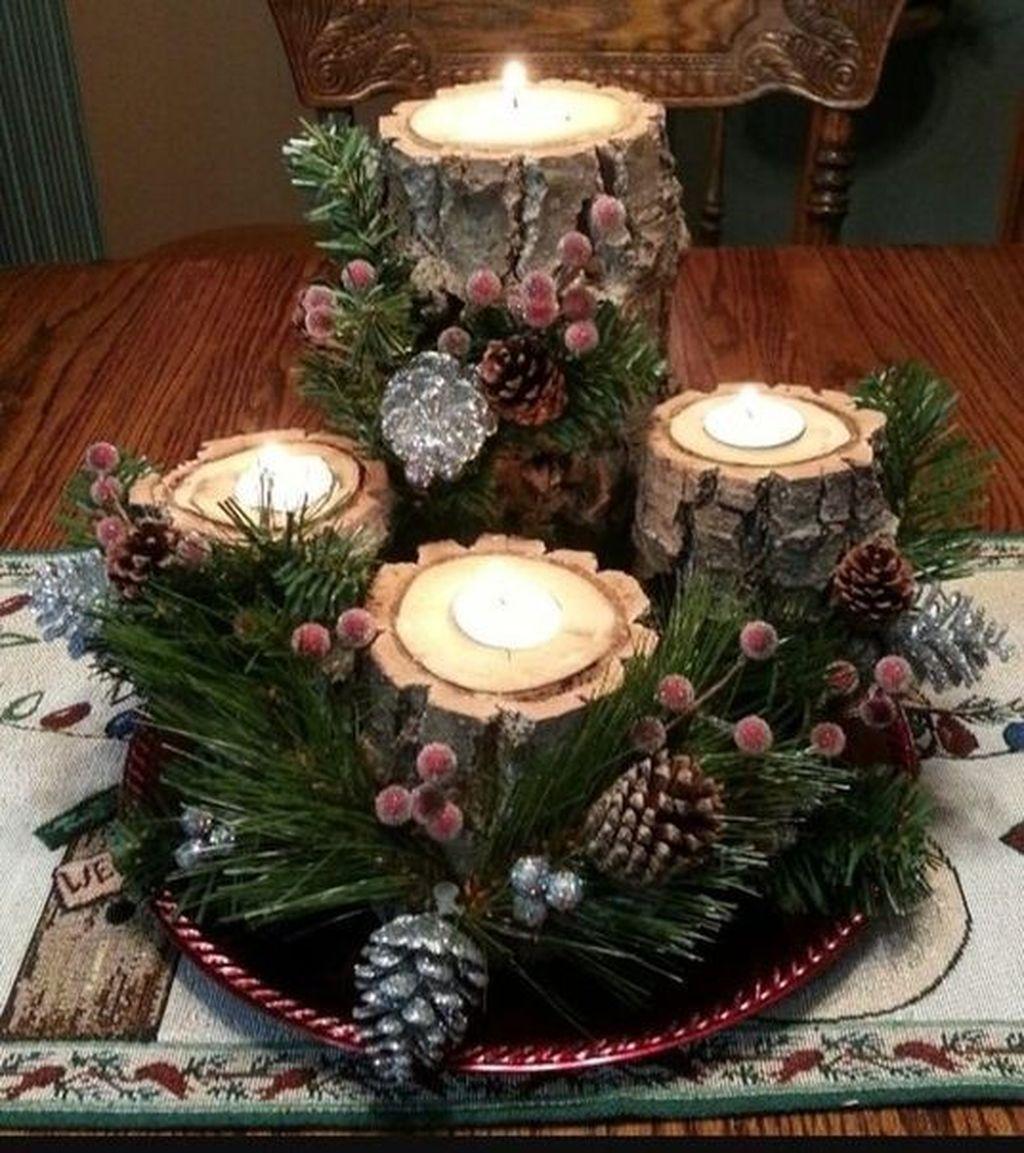 Nice Winter Table Centerpieces Decoration Ideas 31