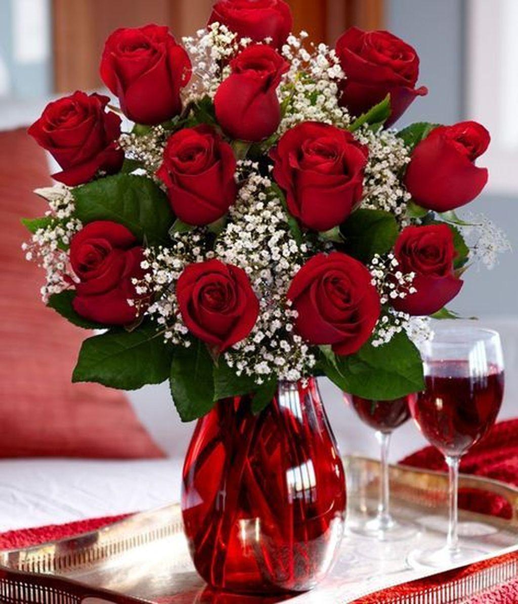 Beautiful Valentine Flower Arrangements That You Will Like 01