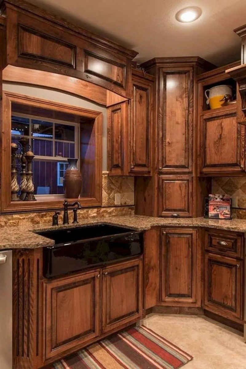 Fabulous Modern Rustic Kitchen Cabinets 25