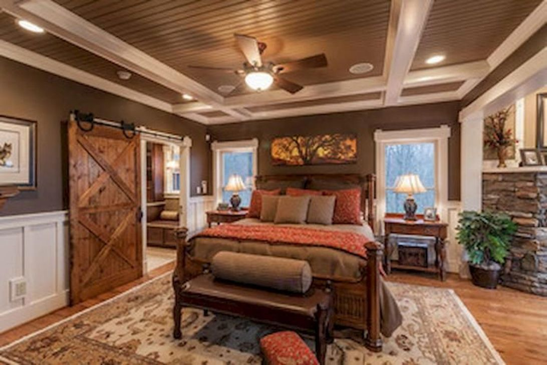 Gorgeous Rustic Bedroom Design And Decoration Ideas 30