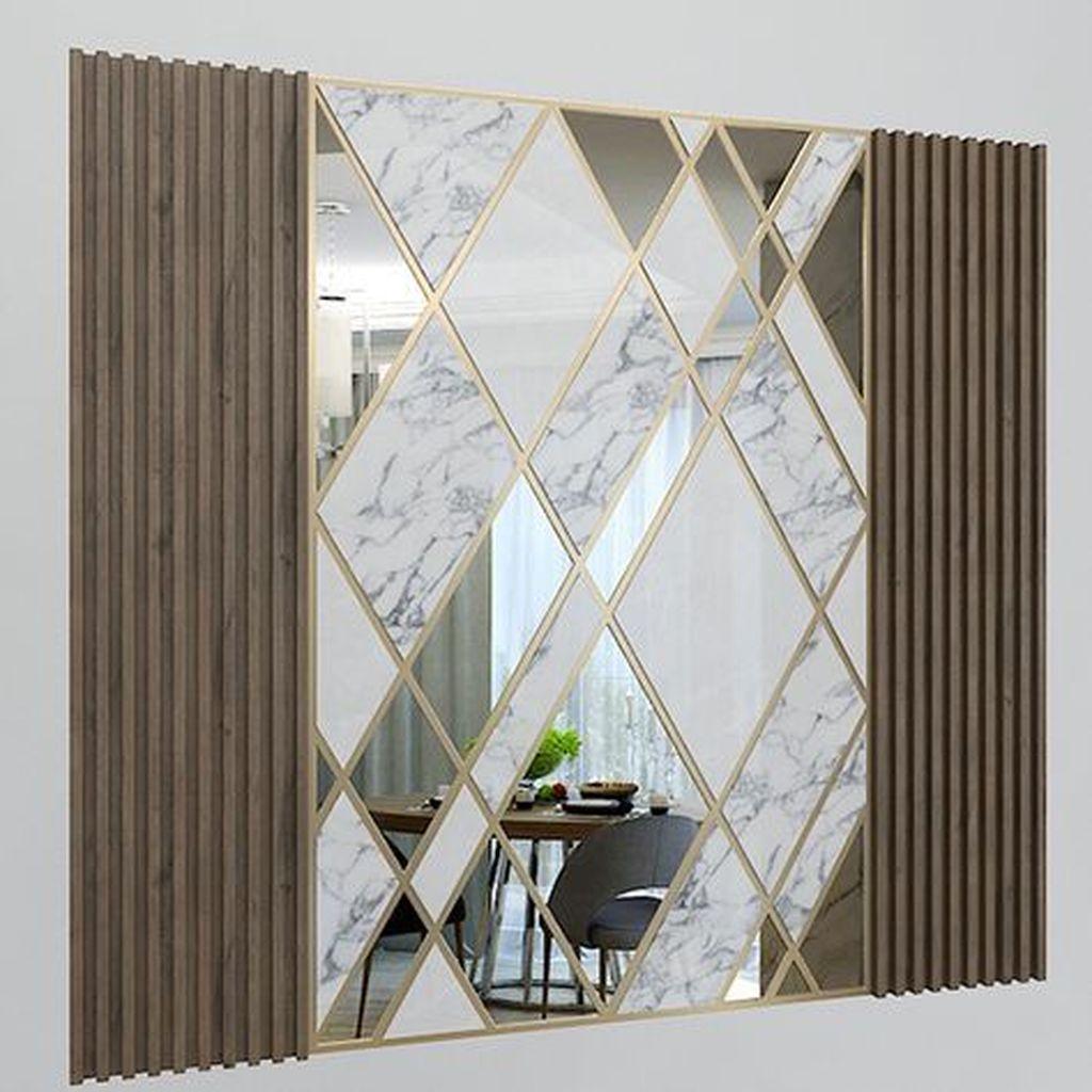 Popular Mirror Wall Decor Ideas Best For Living Room 14