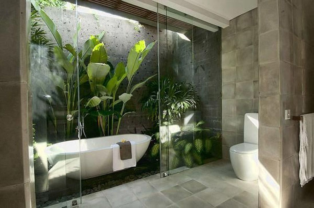 The Best Jungle Bathroom Decor Ideas To Get A Natural Impression 14