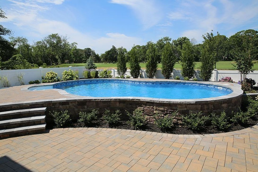 Amazing Ground Pool Landscaping That You Should Copy 04