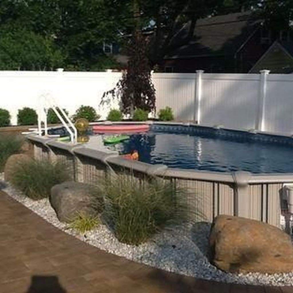 Amazing Ground Pool Landscaping That You Should Copy 05