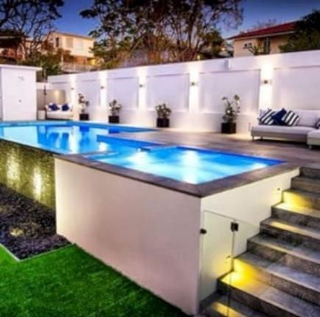 Amazing Ground Pool Landscaping That You Should Copy 06