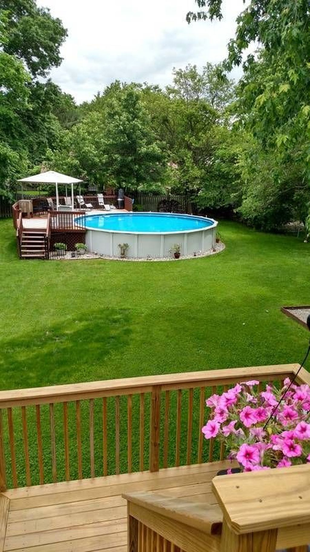 Amazing Ground Pool Landscaping That You Should Copy 09