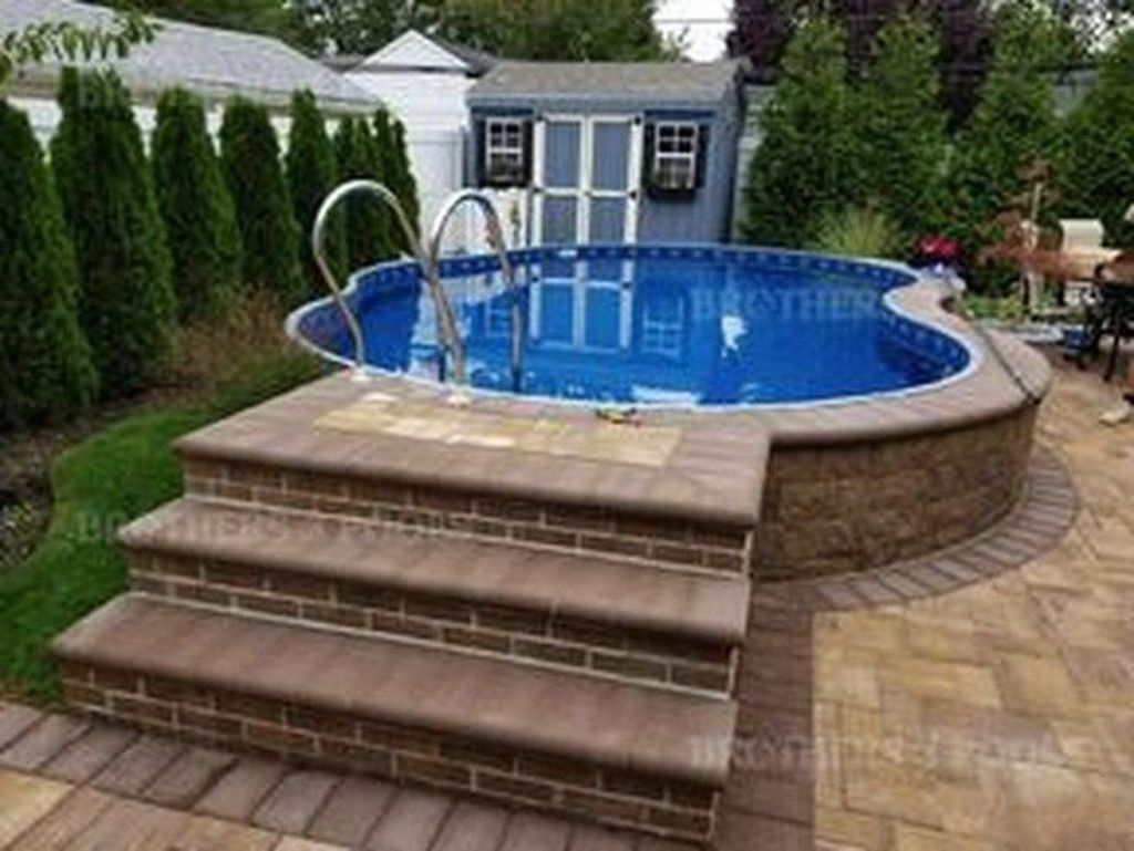 Amazing Ground Pool Landscaping That You Should Copy 14