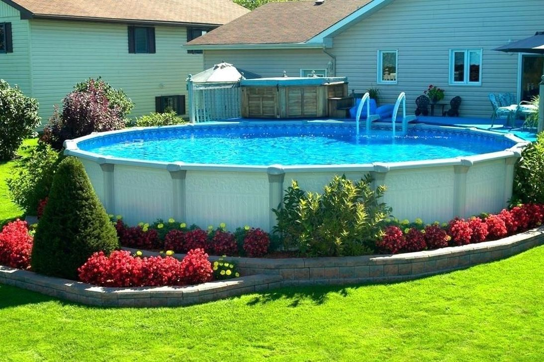 Amazing Ground Pool Landscaping That You Should Copy 16