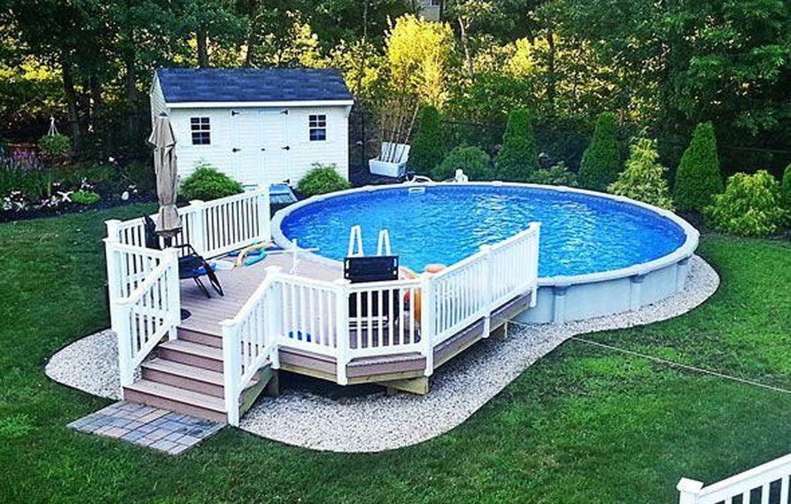 Amazing Ground Pool Landscaping That You Should Copy 27