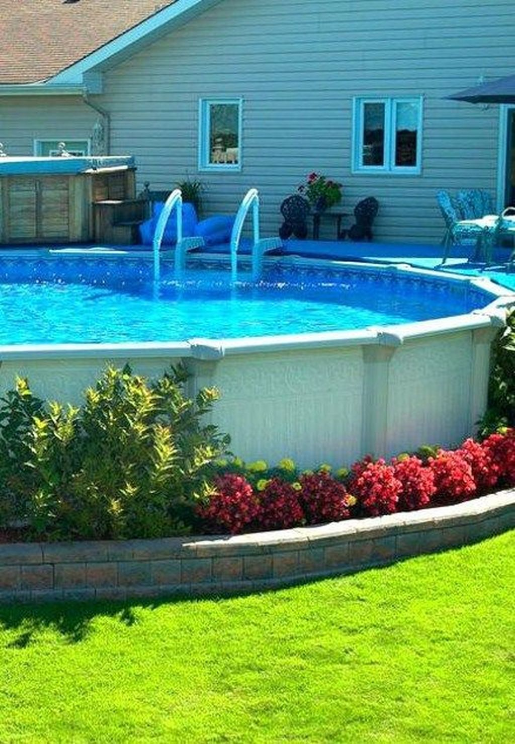 Amazing Ground Pool Landscaping That You Should Copy 29