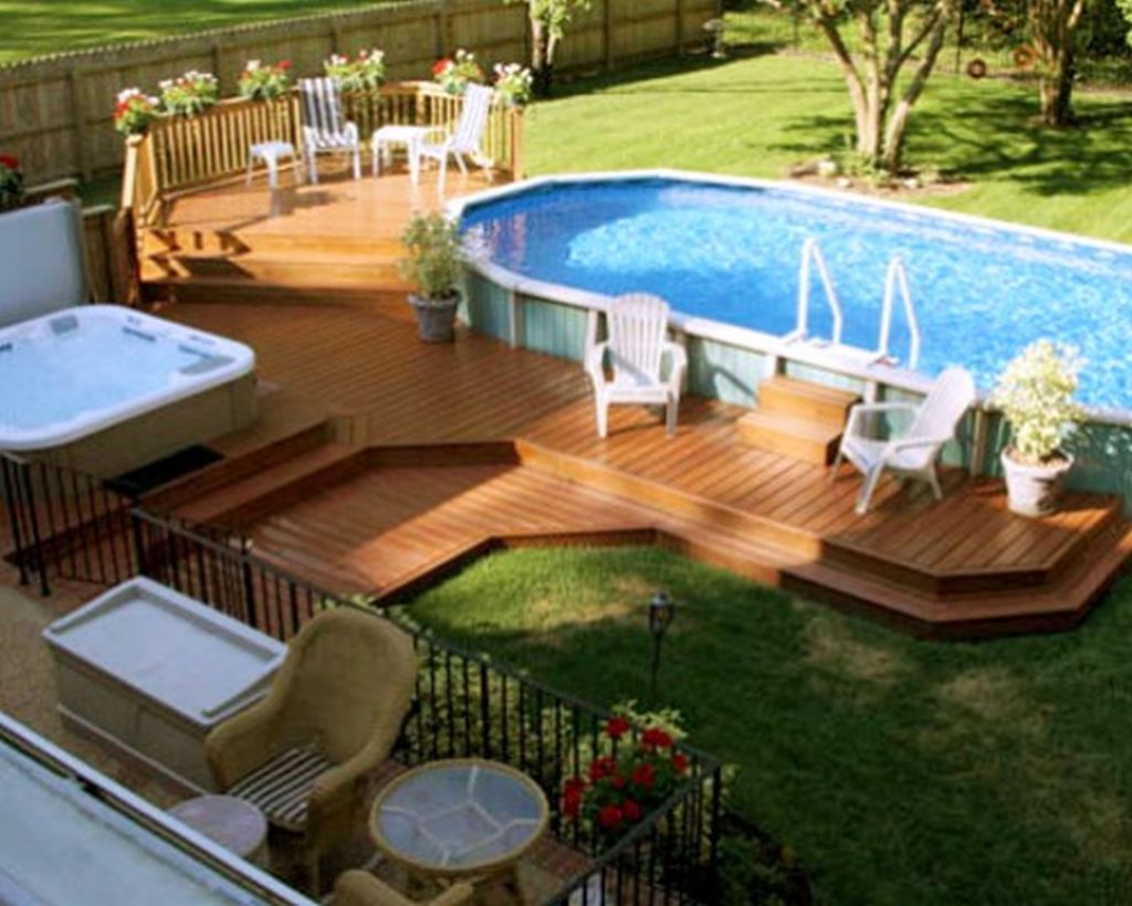 Amazing Ground Pool Landscaping That You Should Copy 35