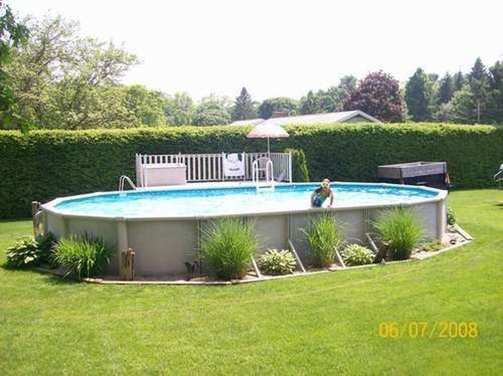 Amazing Ground Pool Landscaping That You Should Copy 36