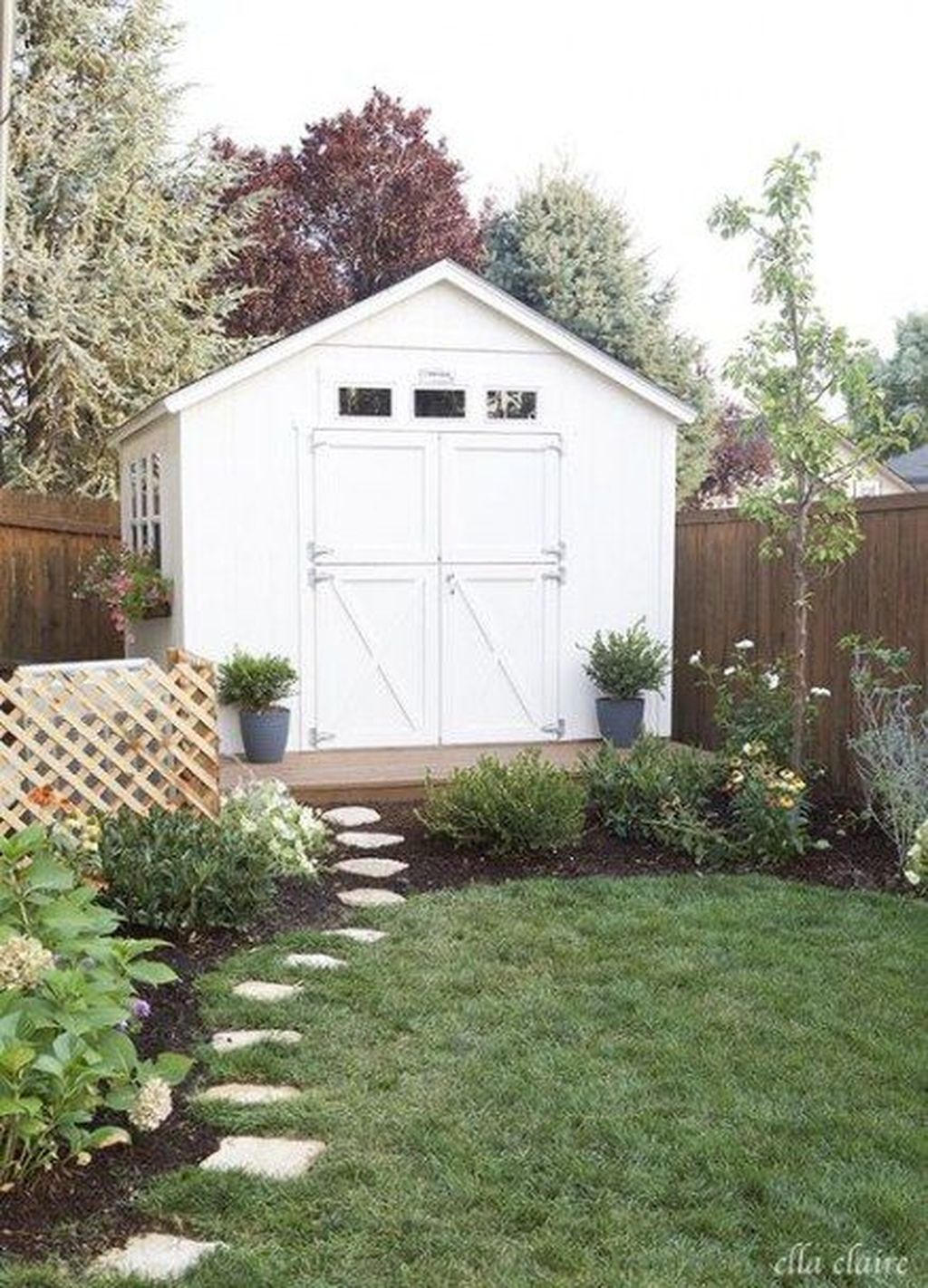 Beautiful Backyard Shed Landscaping Ideas 06