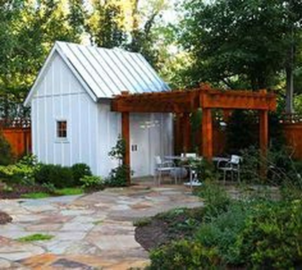 Beautiful Backyard Shed Landscaping Ideas 10