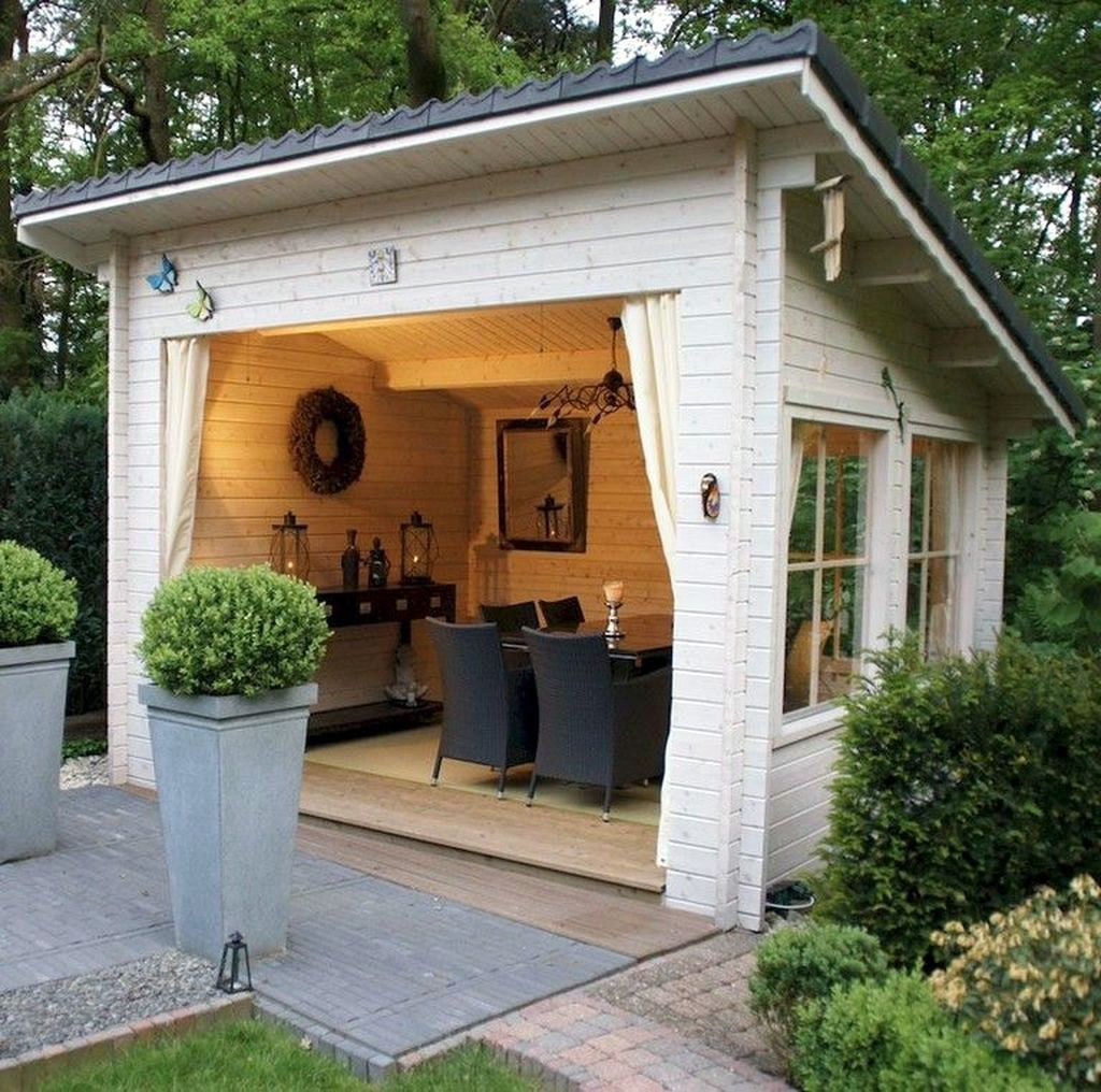 Beautiful Backyard Shed Landscaping Ideas 14