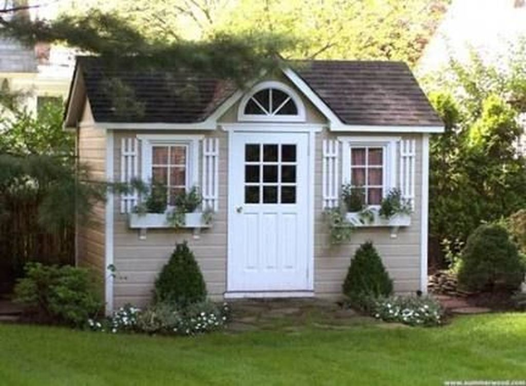Beautiful Backyard Shed Landscaping Ideas 15