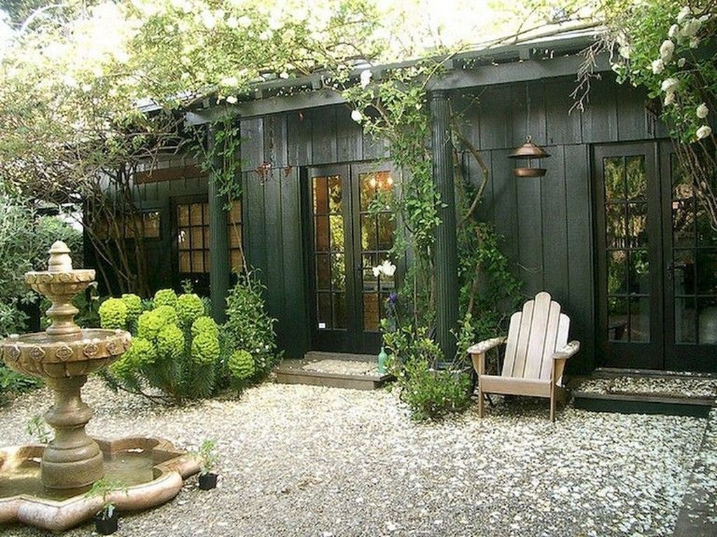 Beautiful Backyard Shed Landscaping Ideas 16