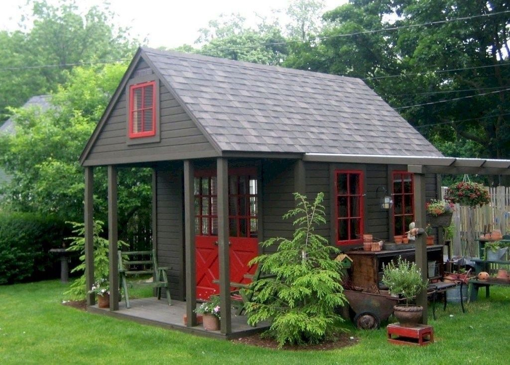 Beautiful Backyard Shed Landscaping Ideas 18