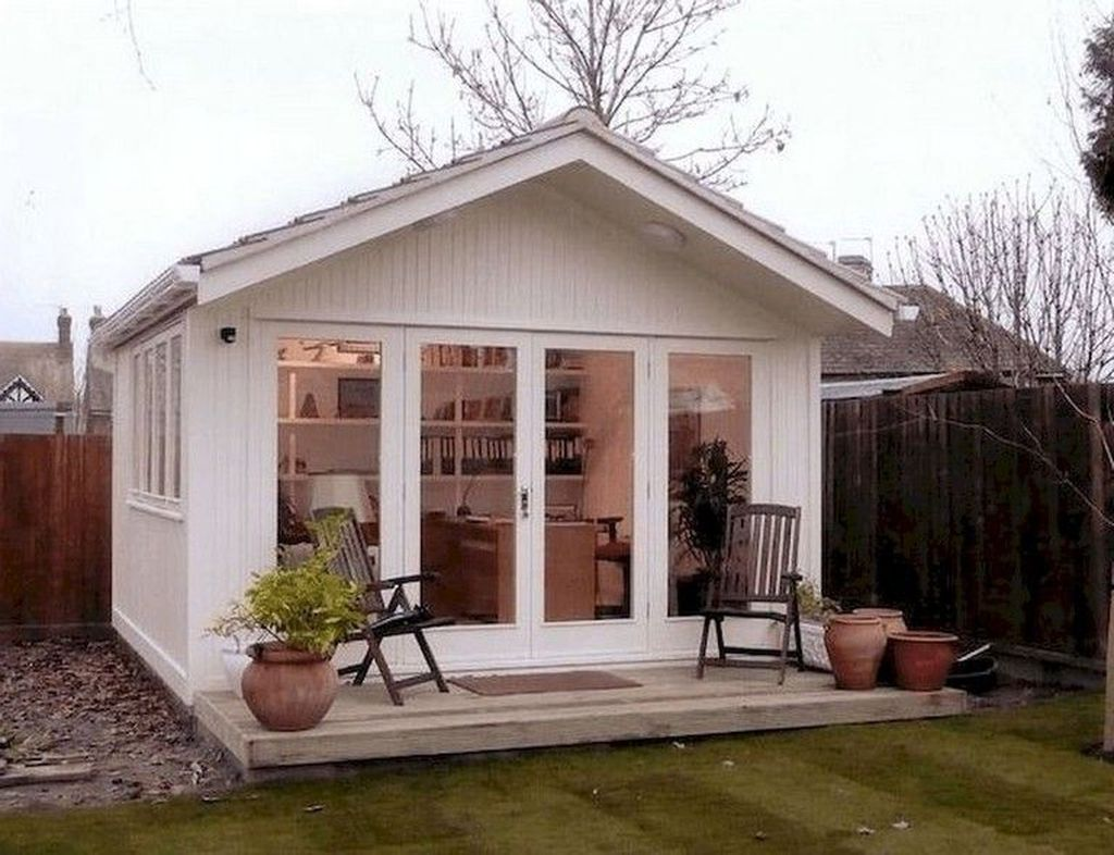Beautiful Backyard Shed Landscaping Ideas 23