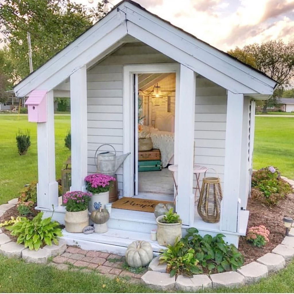 Beautiful Backyard Shed Landscaping Ideas 28