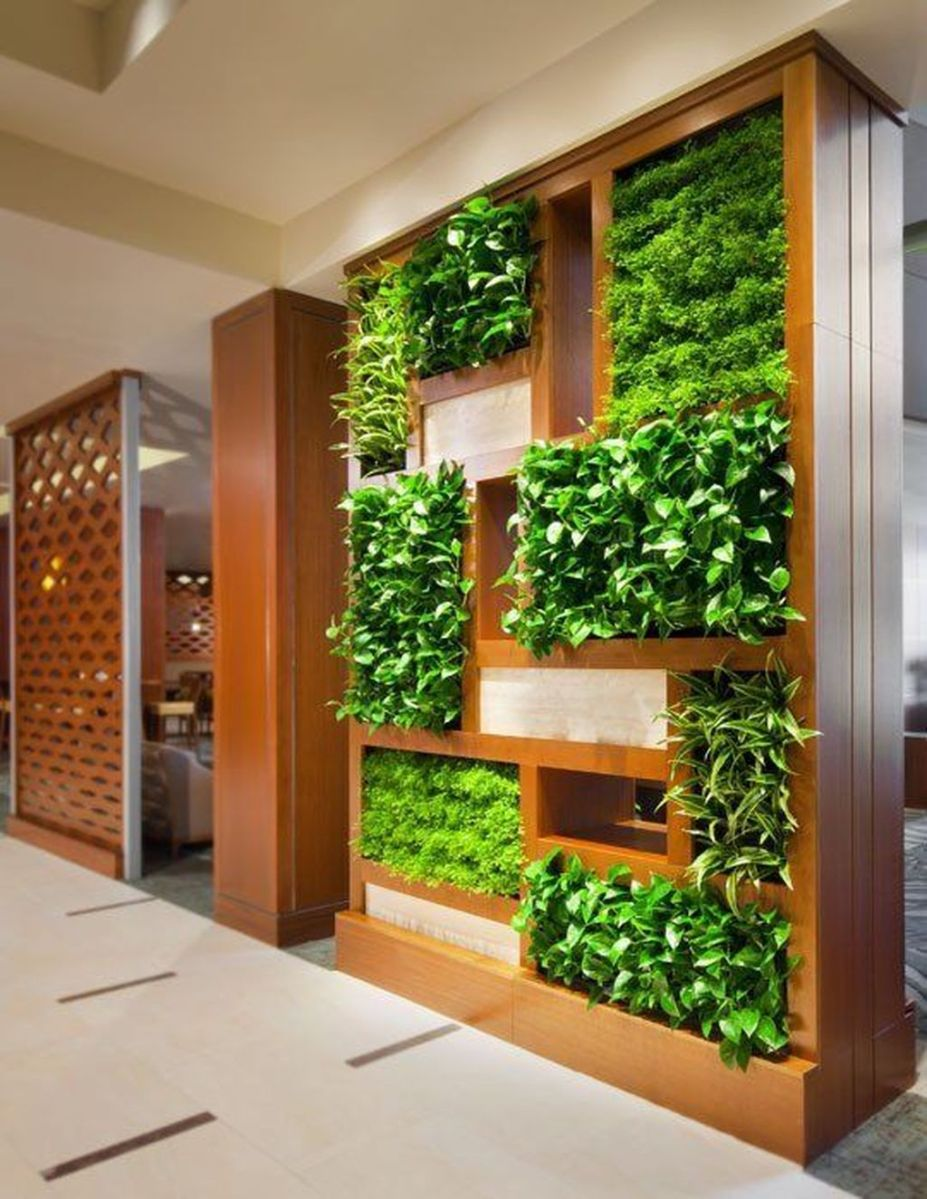Beautiful Living Wall Indoor Decoration Ideas To Be A Fresh Home 07