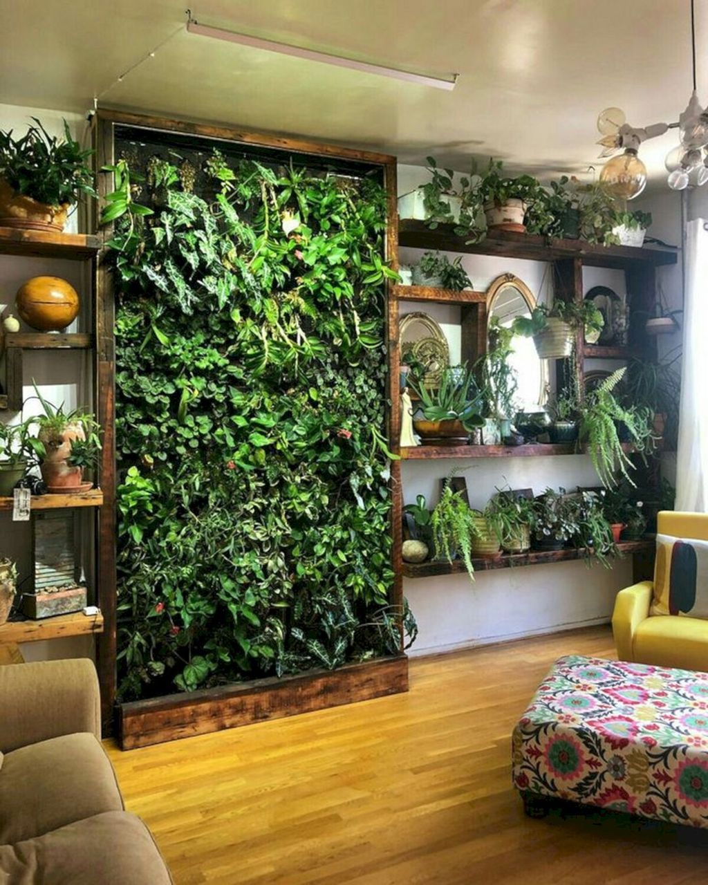 Beautiful Living Wall Indoor Decoration Ideas To Be A Fresh Home 20