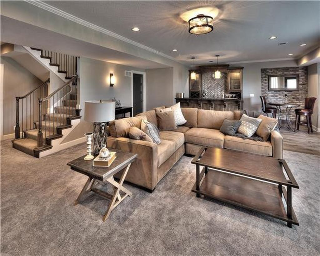 Stunning Basement Remodel Ideas Be A Beautiful Living Space 13