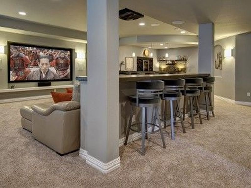 Stunning Basement Remodel Ideas Be A Beautiful Living Space 16