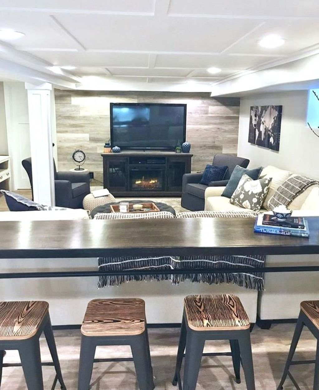 Stunning Basement Remodel Ideas Be A Beautiful Living Space 22