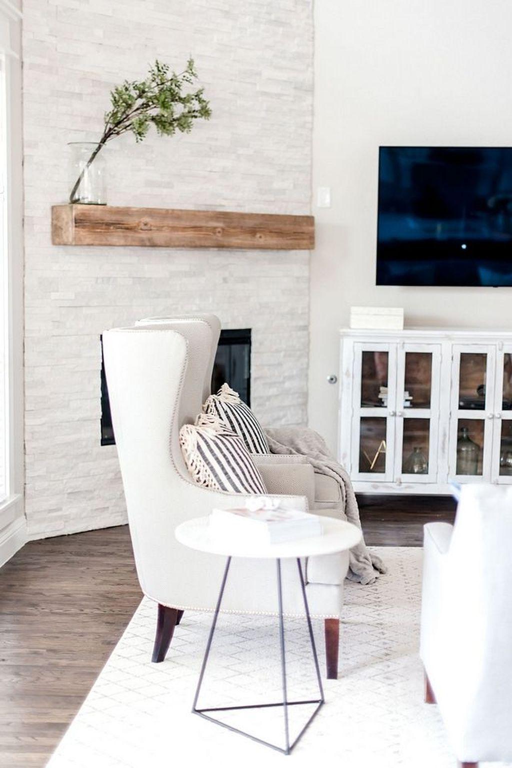 Stunning Corner Fireplace Design For Living Room 07
